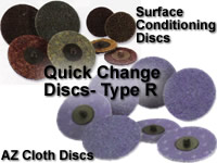 SUNGOLD AZ CLOTH DISCS and SURFACE CONDITIONING DISCS